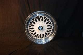 WHITE BBS RC 8/9X17 BMW STYLING 5 RIMS MIRROR POLISHED