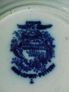 Burgess Leigh Middleport NonPareil Flow Blue Plate