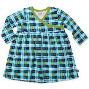 OReilly Check Long Sleeve Wrap Baby Dress  Multi   6M