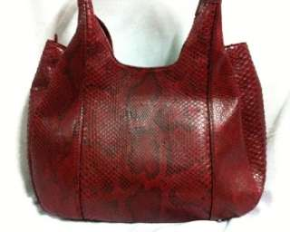 New!! LARGE PYTHON SNAKE LEATHER SHOULDER HOBO BAG PURSE