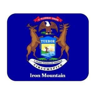 US State Flag   Iron Mountain, Michigan (MI) Mouse Pad