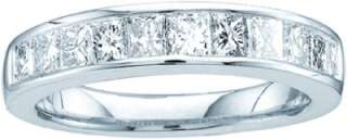 PRINCESS CUT 1 CT DIAMOND RING WEDDING BAND WHITE GOLD