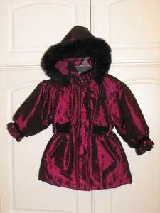 Toddler Girls BIG CHILL Faux Fur Hooded Jacket Size 3T