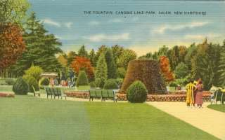 The Fountain, Canobie Lake Park, Salem NH Postcard