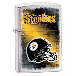 ZIPPO NFL PITTSBURGH STEELERS ***NEW DESIGN*** BRUSHED CHROME 28224