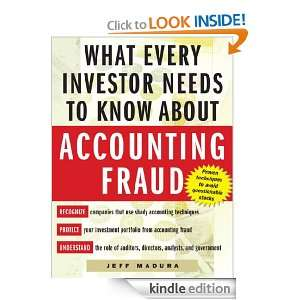 to Know About Accounting Fraud: Jeff Madura:  Kindle Store