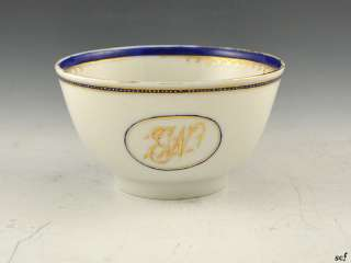 Small Antique Gilded Chinese Export Pottery Tea Cups/Bowls