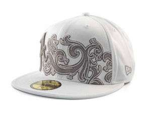 NEW New Era 59Fifty Alabama Crimson Tide Wave White Fitted Cap Hat $