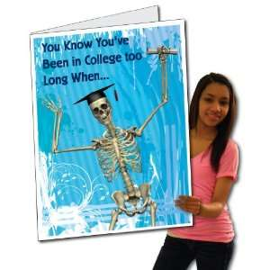 2x3 Giant Graduation Gift Card (Skeleton), W/Envelope