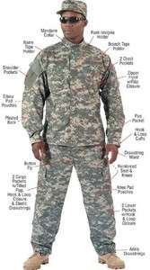 ACU DIGITAL UNIFORM PANTS & SHIRT TOGETHER  Army Combat Uniform Made