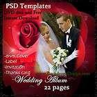 psd templates wedding album backdrops backgrounds fantasy flowers dvd