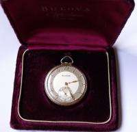 VERIY RARE BULOVA SWISS POCKET WATCH 17J GOLD PLATED