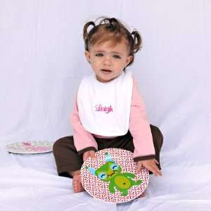 Personalized Bibs and Fun Plates Set Baby