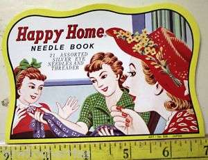 Needle Card Girls Sewing New