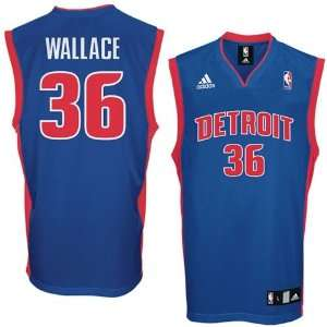 Adidas Detroit Pistons #36 Rasheed Wallace Royal Blue