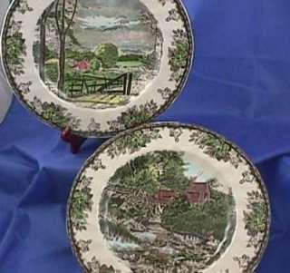 Johnson Bros. Friendly Village 12 Buffet Plates NIB Rare Find