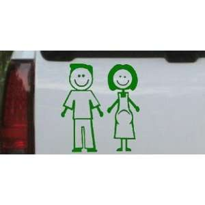 Dark Green 18in X 16.9in    Expecting Family Stick Family Stick Family