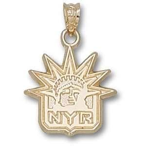 New York Rangers NHL Rangers Nyr Liberty Logo 5/8 Pendant (14kt)