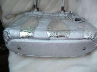 bag purse handbag SATCHEL pocketbook HOBO SILVER 181358 WAVE PATCHWORK