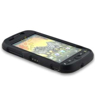 For HTC Mytouch 4G Black+White Hard Case+Privacy LCD