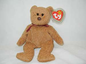 **Curly** Excellent TY BEANIE BABY Teddy Bear Tags*MINT MWT