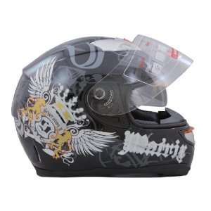 Dot Adult Black Butterfly Dual Visor Full Face Motorcycle