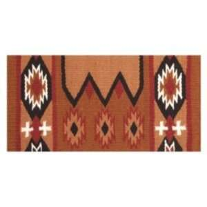 Laredo Navajo Saddle Blanket   34 x 36 Rust/Black Sports