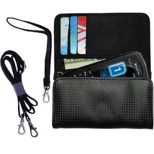 Black Purse Hand Bag Case for the LG GX300 with both a