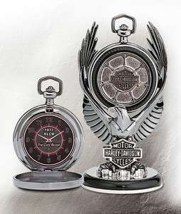 Franklin Mint HARLEY DAVIDSON 1977 XLCR CAFE RACER POCKET WATCH