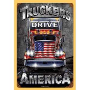 Truckers America Semi Tractor Trailer Nostalgic Metal Sign Tls0110