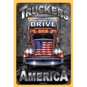 Truckers America Semi Tractor Trailer Nostalgic Metal Sign Tls0110