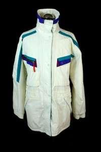 mens white HELLY HANSEN ski jacket coat winter warm drawstring