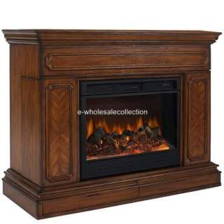 HIDDEN TV LIFT CABINET + ELECTRIC REMOTE FIREPLACE *