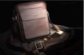 POLO Mens Genuine Leather Shoulder bag _M158D hige quality Dark brown