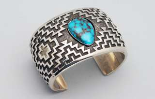 OUT Navajo Tommy Jackson NATURAL High Grade BISBEE Turquoise Bracelet