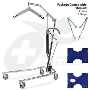 New Hydraulic Patient Transfer Hoyer Lift Kit 2 Slings