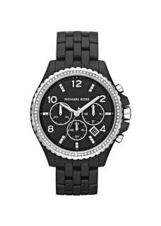 New Authentic Michael Kors MK 5490 Black Crystal Bezel Ladies Watch