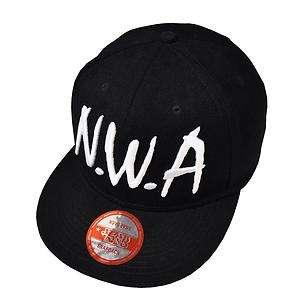 NEW NWA Black Snap Back Retro Hip Hop Baseball Cap