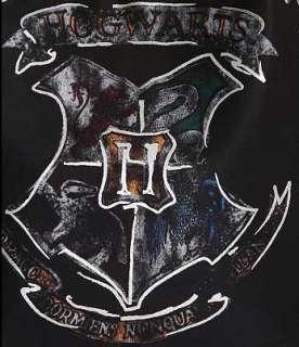 Harry Potter Hogwarts Crest Silver Black Tote Hobo Bag