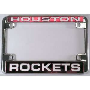 Rockets Chrome Motorcycle RV License Plate Frame