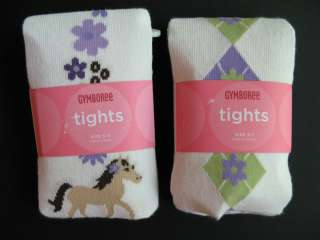 Gymboree Girls Cowgirls At Heart Horse Tights, NWT, 0 6, 6 12, 3 4, 5