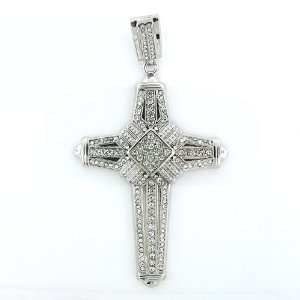 Mens Iced Out Hip Hop White Gold Plated Crystal Passion