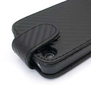 Black Leather Case Pouch For APPLE IPHONE 4 4G 4TH