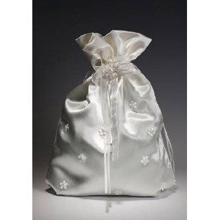 Wedding Bag with Peal Tiny Flower Accents for Collecting Money Dance