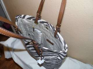 198 Guaranteed Authentic Michael Kors Tiger Striped Canvas Leather LG