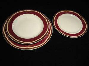 Titanic 2nd Class White Star Line dinner plate bowl set