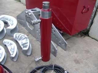 hydraulic bender 1 1 4 to 4 inch double acting electric pump great set