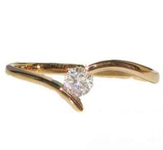 Swarovski crystal rose gold GP Ring promise engagement wedding