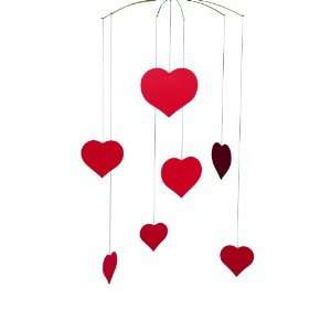 Flensted Mobiles Nursery Mobiles, Happy Hearts Baby