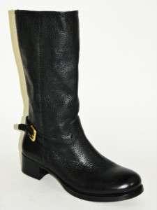 PRADA Black Leather Back Buckle Motorcycle Short Boot Shoe 36 NIB